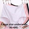 Женская обувь большого размера 6XL трусики для женщин плюс жира размера плюс для мамы трусы, шорты с высокой талией, трусики и удобные