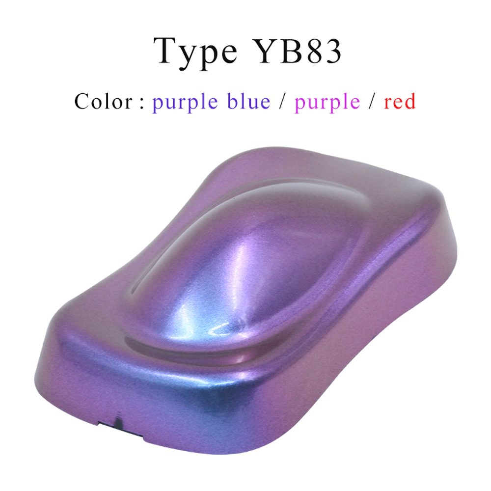 YB83 Chameleon Pigments Acrylic Paint Powder Coating Dye For Automotive Paint Decoration Arts Nail Plastic 10g Painting Supplies