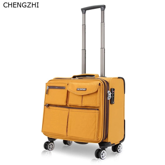 CHENGZHI 16 inch business suitcase on wheel trolley case boarding suitcase men and women travel rolling luggage
