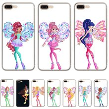Caixa Do Telefone móvel para o iphone 11 Pro X XS Max XR iPhone 6 6S 7 8 Plus 5 5S SE Capa Dura Rainbow Winx Club Shell Invólucro(China)