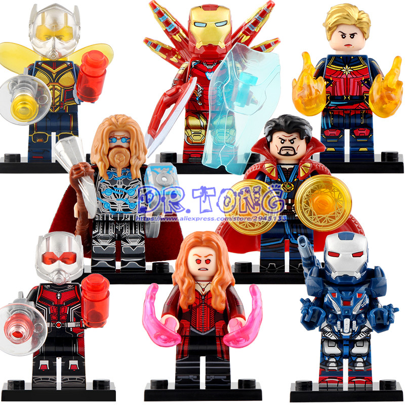 Single Thor Iron Man Captain America Wasp Ant Man Doctor Strange War Machine Witch Building Blocks Gifts For Child Toys WM6063