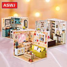 Miniature Dollhouse Kit DIY Dollhouse Furniture Handmade Girl Toy Cottage House For Children Birthday Christmas Gifts(China)