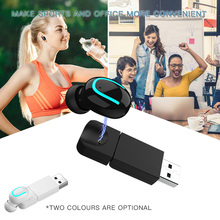 цена на Q13S Wireless Earbud Bluetooth In-Ear Invisible Earpiece Single Mini Bluetooth USB Business Earphone Sport Earbuds
