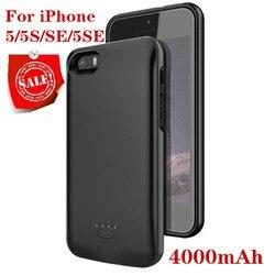 Caso carregador de bateria para o iphone se 5se 5 5S 4000 mah power bank carregamento powerbank caso para iphone 5 5S se 5se bateria