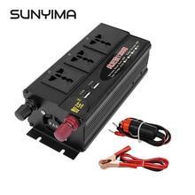 Инвертор немодулированного синусоидального сигнала SUNYIMA 1200 Вт 12 В/24 В/48 В переменного тока В 50 Гц двойной цифровой дисплей двойной USB переключатель мощности
