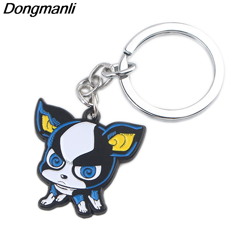 P4071 Dongmanli Cute IGGY Dogs Car Keychain Enamel Metal Pendant Car For Key Rings Key Holder Gifts Jewelry