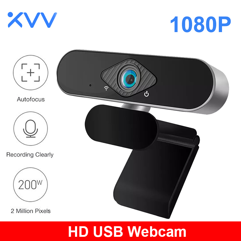 Xiaomi Xiaovv 1080P Webcam With Microphone 150° Wide Angle USB HD Digital Web Camera Laptop Computer Webcast For Zoom YouTube