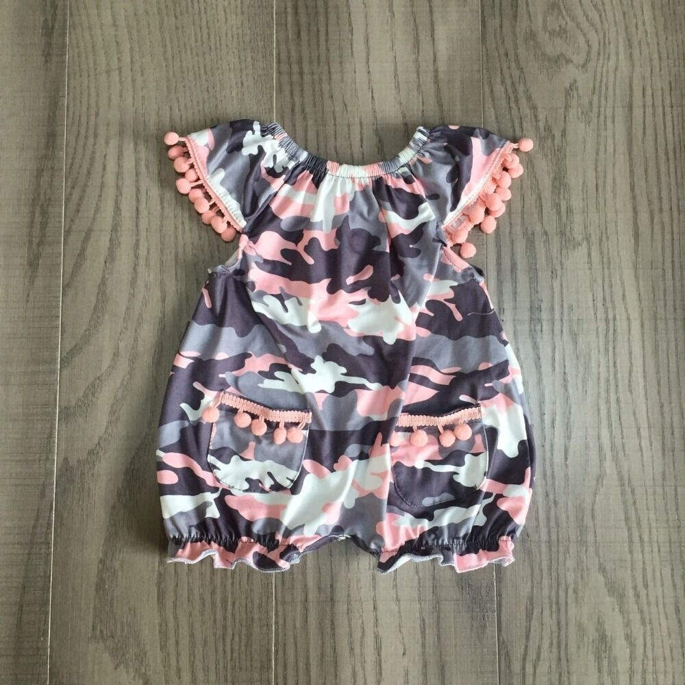 Baby Clothes Baby Summer Romper Infant Toddler Romper Baby Camouflage Print Romper Wholesale