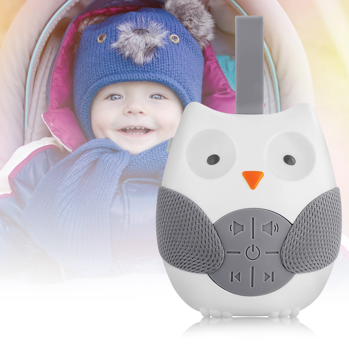 Owl White Noise Machine Baby Soother Sleep Helper Sound Machine For Sleeping Relaxation For Baby Adult Office Travel