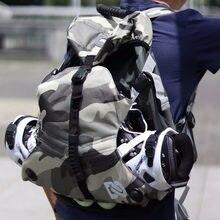 Mochila de patins inline, mochila leve para atividades ao ar livre, bolsa de ombro duplo, hw274