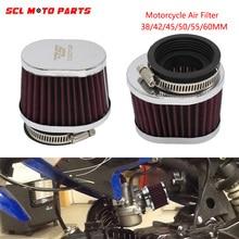 ALconstar-دراجة نارية فلتر الهواء المكربن كمية الهواء تصفية 38/42/45/50/55/60 مللي متر العالمي ل PWK 21/24/26/28/30/32/33/34/35