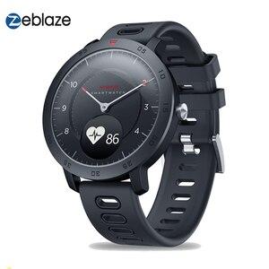 Image 1 - Zeblaze היברידי חכם שעון קצב לב צג לחץ דם מזג אוויר ספורט כושר Tracker הכפול מצבי Smartwatch גברים