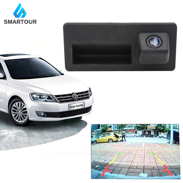 Smartour HD Reverse Hinten Kamera für audi A4 A5 S5 Q5 Volkswagen Tiguan Passat Kofferraum Griff Kamera|Fahrzeugkamera|   -