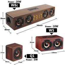 Home Theater TV in legno Soundbar colonna Wireless altoparlante Bluetooth sveglia Subwoofer multifunzione per altoparlanti per Computer AUX