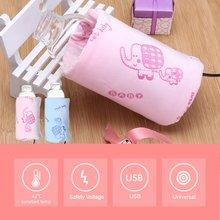 Портативная USB грелка для бутылочек для молока, для детей, для кормления, термоинструменты, изолированная сумка, подогреватель бутылочек для кормления детей, 5 В