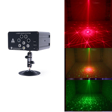 цены 128 in 1 Laser Party Light DJ Disco Lights Stage Lighting pattern Projector Sound Activated Flash Strobe Light for Parties Home