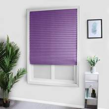 Persianas plisadas opacas, autoadhesivas, para el hogar, balcón de la cocina, tela no tejida, sombreado para ventana, cortinas de balcón, color púrpura