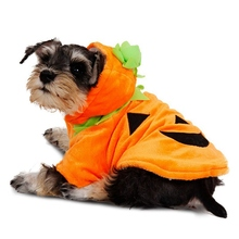 Костюм для косплея для домашних животных; Одежда для собак на Хэллоуин; забавная Тыква; одежда для косплея для щенков; Чихуахуа; теплые толстовки с капюшоном; куртка