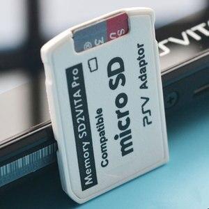 Image 3 - رائجة البيع نسخة 6.0 SD2VITA ل PS Vita الذاكرة TF لعبة ببطاقات ورقية بطاقة PSV 1000/2000 محول مايكرو قارئ البطاقات SD ps vita 1000