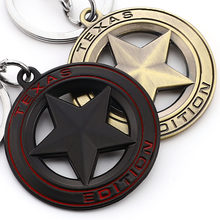 TEXAS EDITION Metal Star Logo Emblem Car Keychain 194 Keyring Key Ring for Jeep Wrangler Renegade Liberty Grand Cherokee Styling(China)