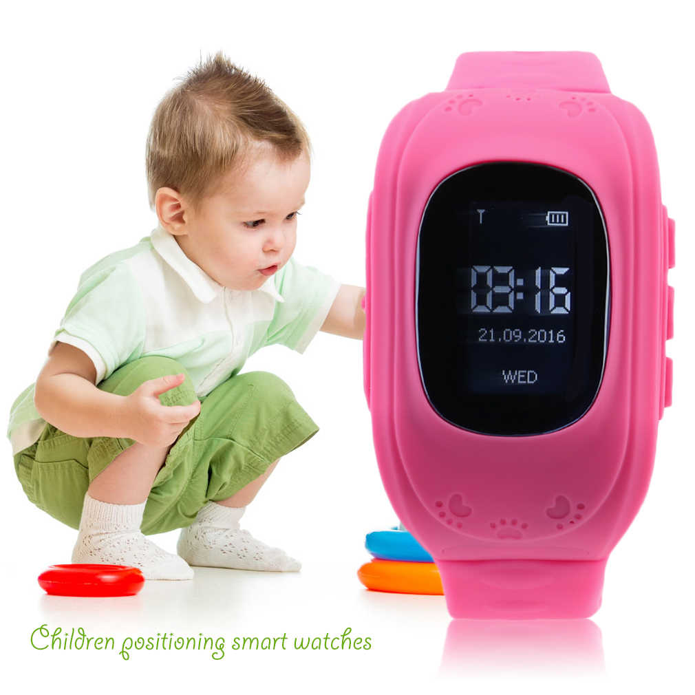 Модные Детские Смарт-часы с gps позицией, резиновым ремешком, браслет, электронные часы Q50 для Android и IOS