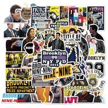 50PCS TV Series Brooklyn Nine-Nine Stickers for DIY Stationery Decal Pegatina Motorcycle Skateboard Laptop Guitar Helmet Sticker