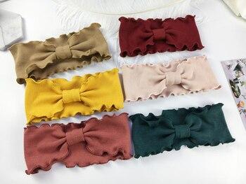 Girl Stylish Bowknot Headband Twist Hairband Bow Knot Cross Tie Solid Headwear Lovely Babies Kids Girls Bow Tie Headwear