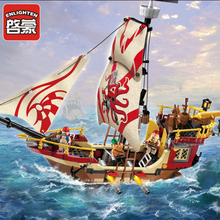 Models Building Toy 1311 Pirates Ship 368pcs Educational Building Blocks Compatible With Legoingly Pirates Bricks Toys & Hobbies For Child Gift