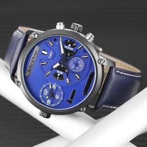 Image 3 - Keller & Weber Mens Watches Luxury Brand Famous Unique Designer Genuine Leather Quartz Wrist Watch Men Clock Man Reloj Hombre
