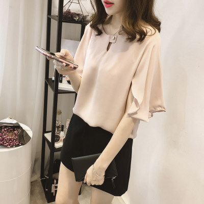 short sleeve 2020 summer women's shirt blouse for women blusas womens tops and blouses chiffon shirts ladie's top plus size 8
