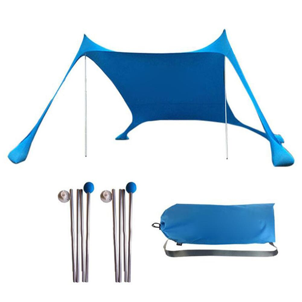 Family Beach Sunshade Lightweight Sun Shade Tent With Sandbag Anchors Comfortable For Parks & Outdoor Camping Dropshipping