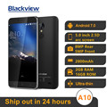 Original Neue Blackview A10 MT6580A Quad Core 2GB 16GB 5'' HD 3G Smartphone Android 7,0 Fingerprint 8,0 MP 2800mAh Handy