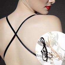 Bra-Strap Bra-Accessories Party-Dress Elastic Adjustable Women Double-Shoulder Ladies