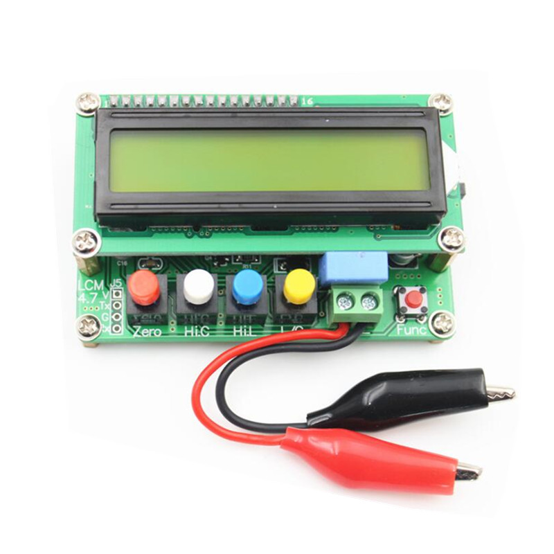 Высокоточный цифровой ЖК-измеритель емкости, таблица индуктивности, тест-ER, измеритель частоты 1pF-100mF 1uH-100H, тестовый зажим, тест-тестер, тест-...