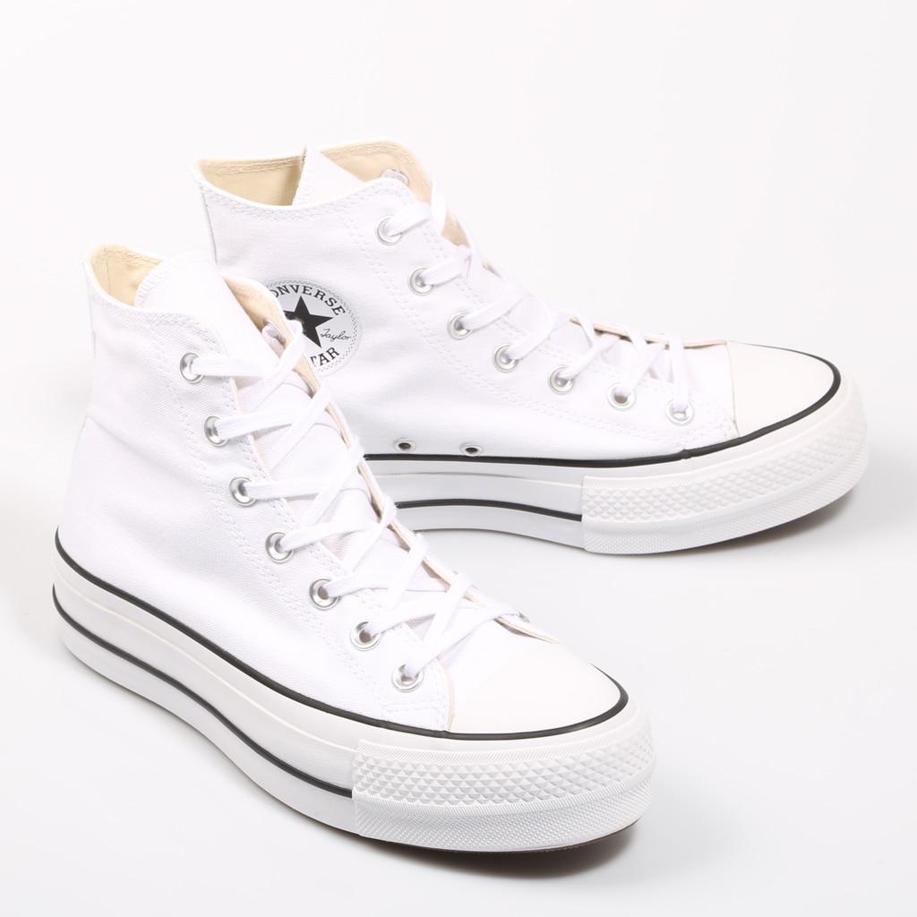 Converse Chuck Taylor/белые кроссовки на платформе с высоким берцем; Женская обувь; Повседневная модная обувь; 69224