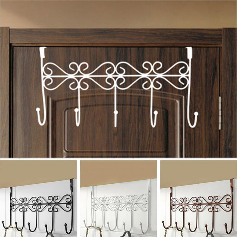 1pc Door Hooks Home Bathroom Kitchen Organizer Hat Towel Coat Clothes Hanger Door Wall Hooks Door Hanging Rack Holder