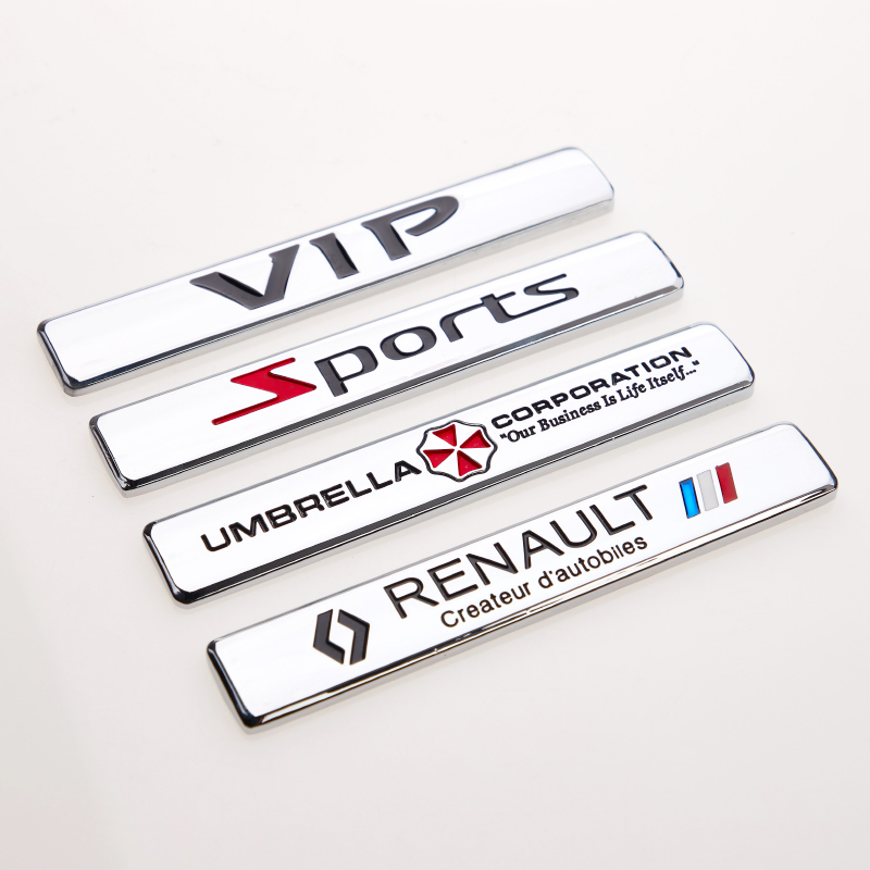 Suitable for Volkswagen Peugeot Skoda Kia Ford Suzuki Chery Audi BMW Hyundai Renault side standard leaf metal car sticker