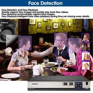 Image 2 - Plug and play POE NVR 8CH Xmeye CCTV פנים לזהות מערכת 5MP ב/חיצוני POE IP מצלמה IR יום /לילה אבטחת מעקב ערכות