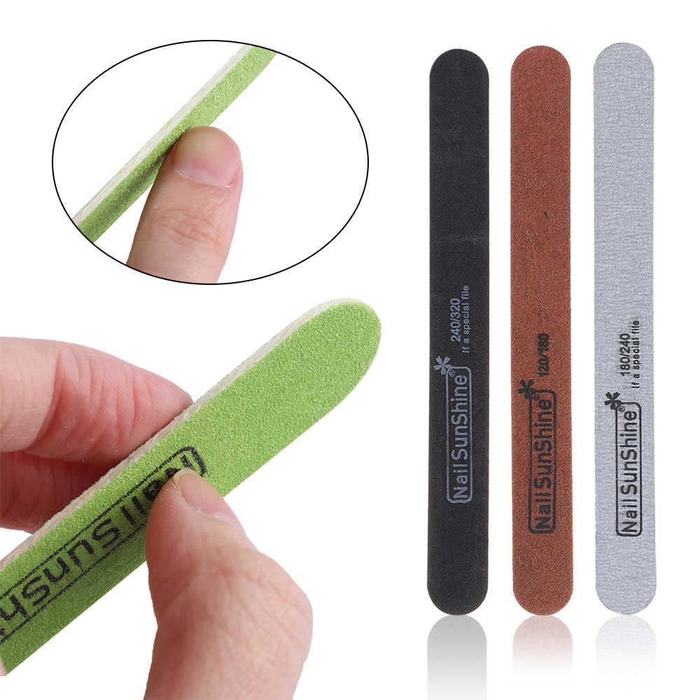 1PC limas de uñas de madera pulidor pedicura manicura profesional cuidado de uñas arte belleza accesorios herramientas 100/120/ 150/180/240