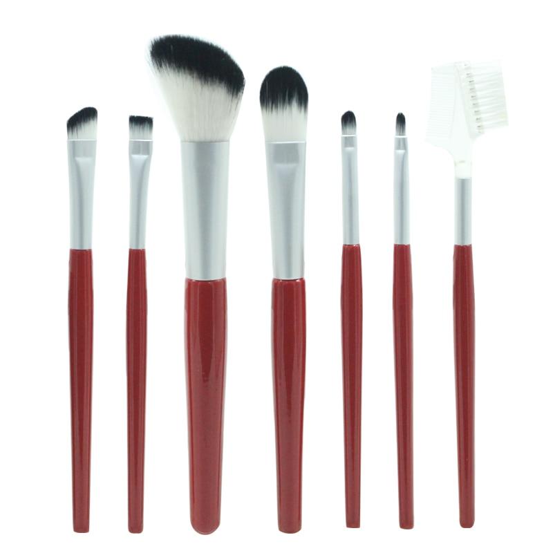 eval 5 pcs set pinceis de maquiagem kit po sombra de olho fundacao blush mistura beleza
