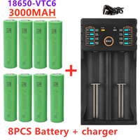 2021 New original 3.7 V 3000 MAH 18650 battery for us18650 Sony VTC6 30A toys tools flashlight battery+USB Charger