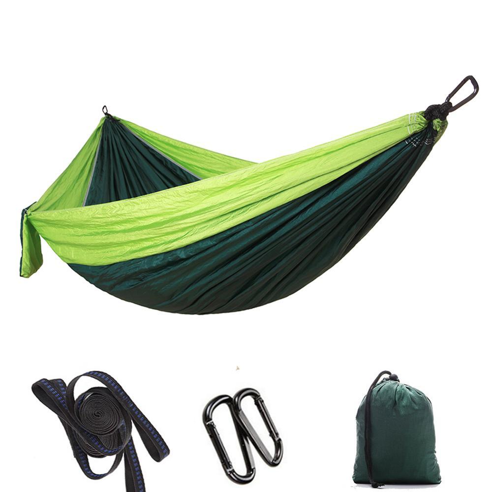 Camp Parachute cloth hammock outdoor camping Swing double Camp hammock Portable Camp Sleeping Bed Beach Mattress Picnic Blanket