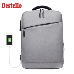 Fashion men usb charging larger travel backpack 15.6 inch laptop backpack bag waterproof anti-theft male business backpacks