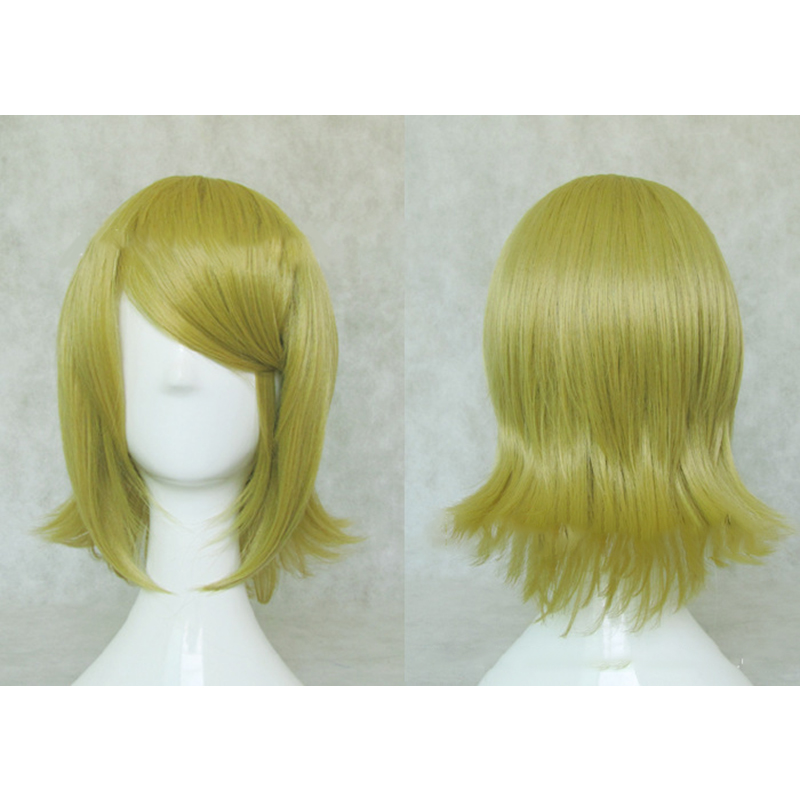 HAIRJOY Synthetic Hair Short Blonde Vocaloid Kagamine Rin Cosplay Wig High Temperature Fiber Free Shipping 3 Colors Available 3