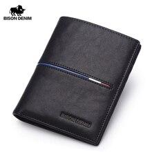 BISON DENIM Chính Hãng Cowskin Leather Wallets Men Đa Chức Năng Da Bò Đồng Xu Ví Genuine Leather Wallet For Men N4437 2