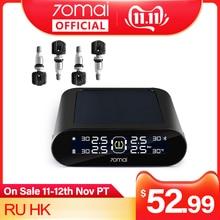 70mai tpms Tire Pressure Monitor System English APP Solar Power USB tpms 70mai Car Tyre Pressure Sensors System Alarm