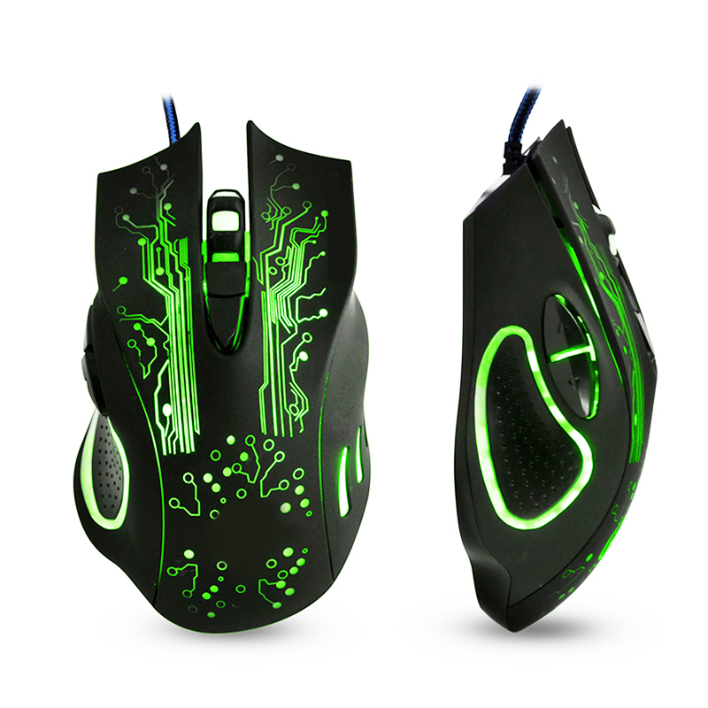 Gaming Mouse Computer Mouse Gamer <font><b>5000DPi</b></font> Optical USB Ergonomic Mouse Silent Wired With Backlight Mause Game Mice For PC Laptop image