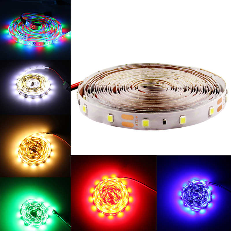 Led light strip 2835 12v waterdichte Flexibele led diode tape rgb rood blauw groen wit warm wit 0.5m 1M 5M neon lint