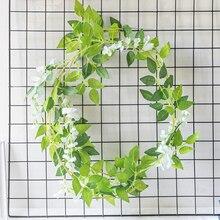 Artificial Plastic Flower Garland for Wedding Backdrop Decoration String Fake Wisteria