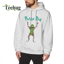 Vintage Sweatshirt Funny Custom For Male Rick and morty Pickle rick Hoodies